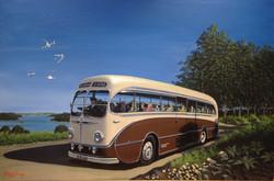 Brown-Cream Coach