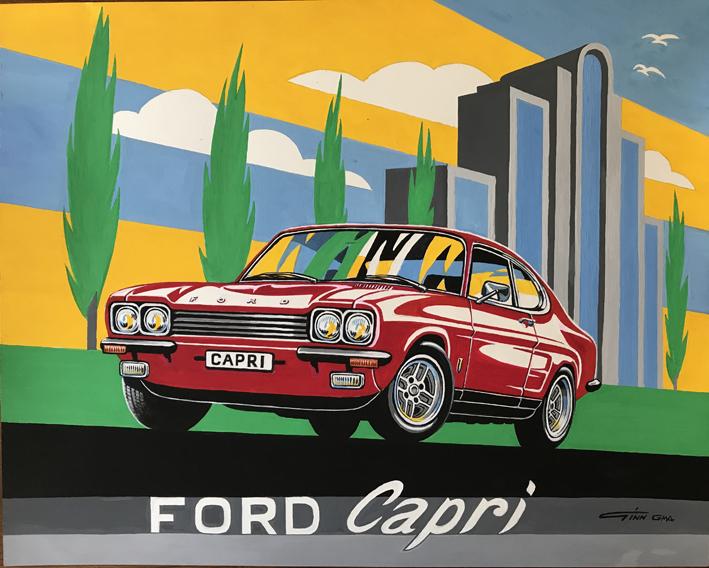 Ford Capri Art Deco style