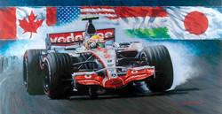 Hamilton 4 wins in rookie year