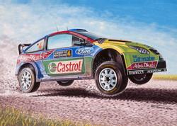 Ford Focus WRC 2010 NZ Latvala painting.
