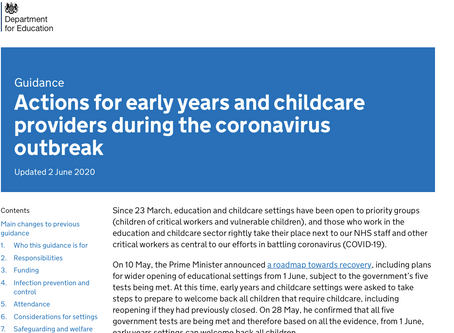 Latest update for Paediatric First Aid Cover in Childcare settings