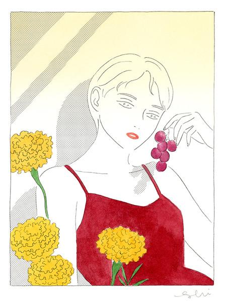 葡萄×マリーゴールド