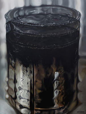 2015, D Hwang, Ivory black-2, oil on can