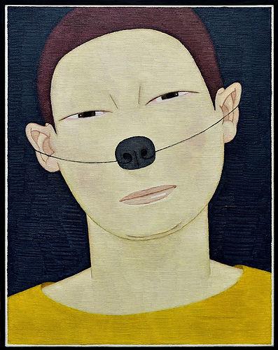 2017, 변웅필, 개코사람, Oil on Canvas, 41.7 x 3