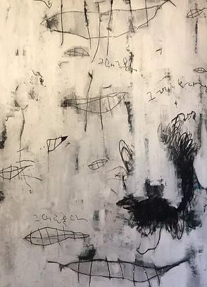 2014, 그대로본다, Acrylic, gesso, charcoal, 1