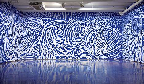2015, 최선, 오수회화(적분의 그림), 벽에 페인트, 96㎡.jpg
