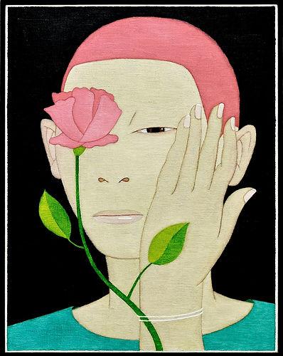 2017, 변웅필, 꽃사람2, Oil on Canvas, 41.7 x 3