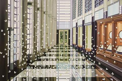 2009, 남경민, 화가의 나비채집, Oil on Linen, 162 ×
