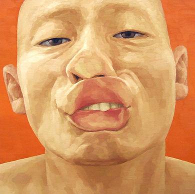 2004, 변웅필, 한 사람으로서의 자화상- 표출 02, Oil on C