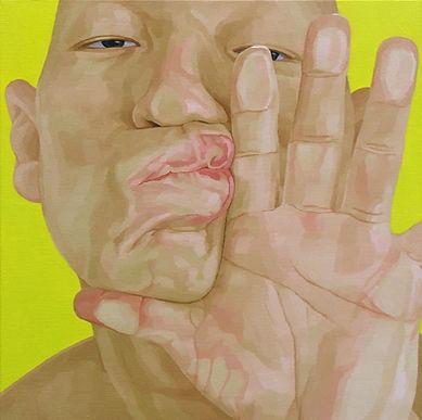 2005, 변웅필, 한 사람으로서의 자화상- 표출 05, Oil on C