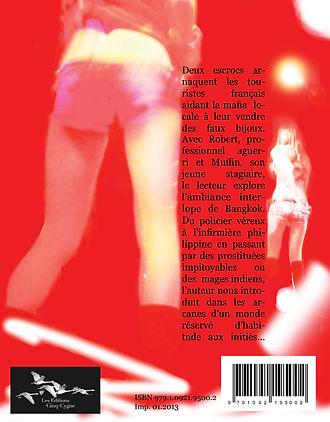 quatrième de couverture du roman Paris-Bangkok