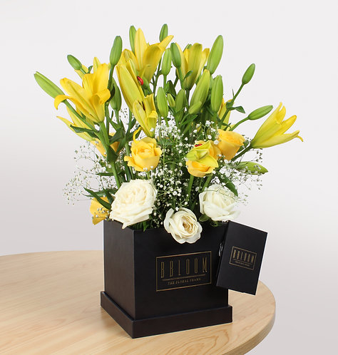 Assorted Yellow Lily box