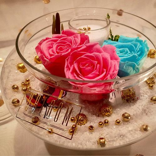 Blush Rose's in Glass Vase