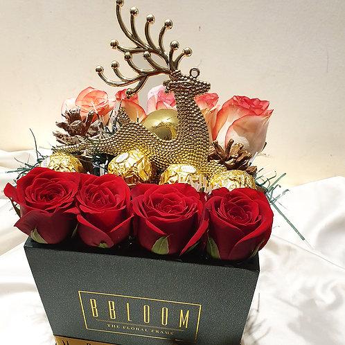 Rose and chocolate gift box