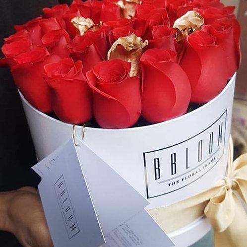 Christmas flower bucket