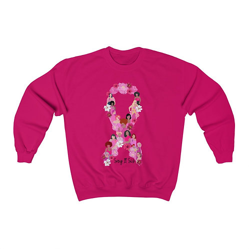 No Sista Fights Alone Unisex Heavy Blend™ Crewneck Sweatshirt