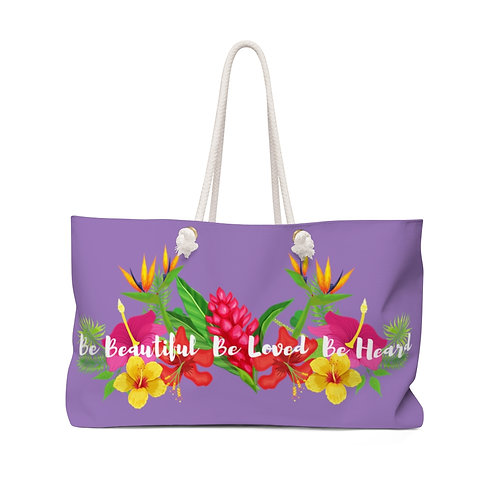 Bloom Where You are Planted Purple Weekender Bag