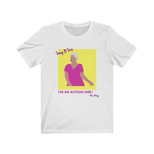 ACTION GIRL Jersey Short Sleeve Tee