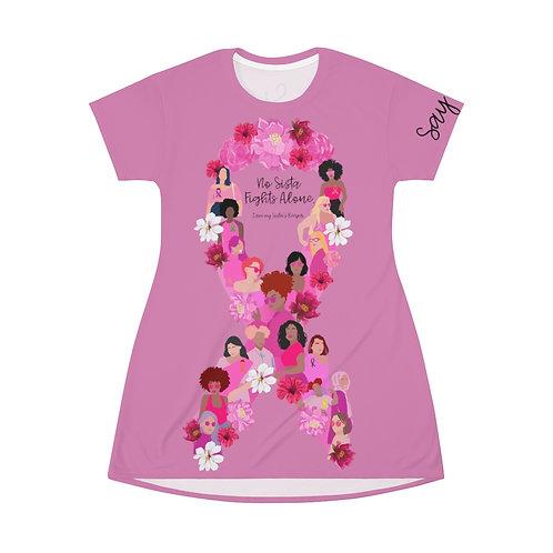 No Sista Fights Alone T-Shirt Dress