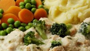 Salmon and broccoli supreme