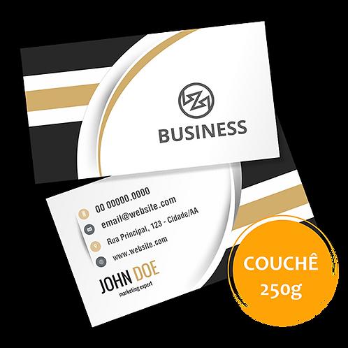 Cartão de Visita Couchê 250g