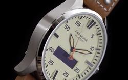 Stainless steel body hybrid watch