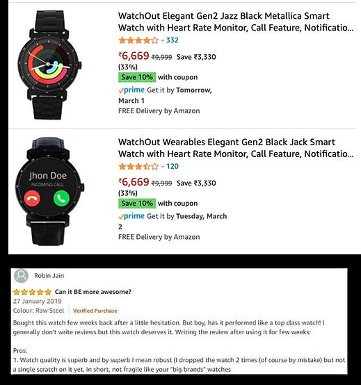 Watchout smartwatch