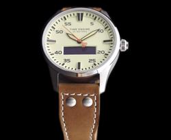 Leather strap hybrid smart watch