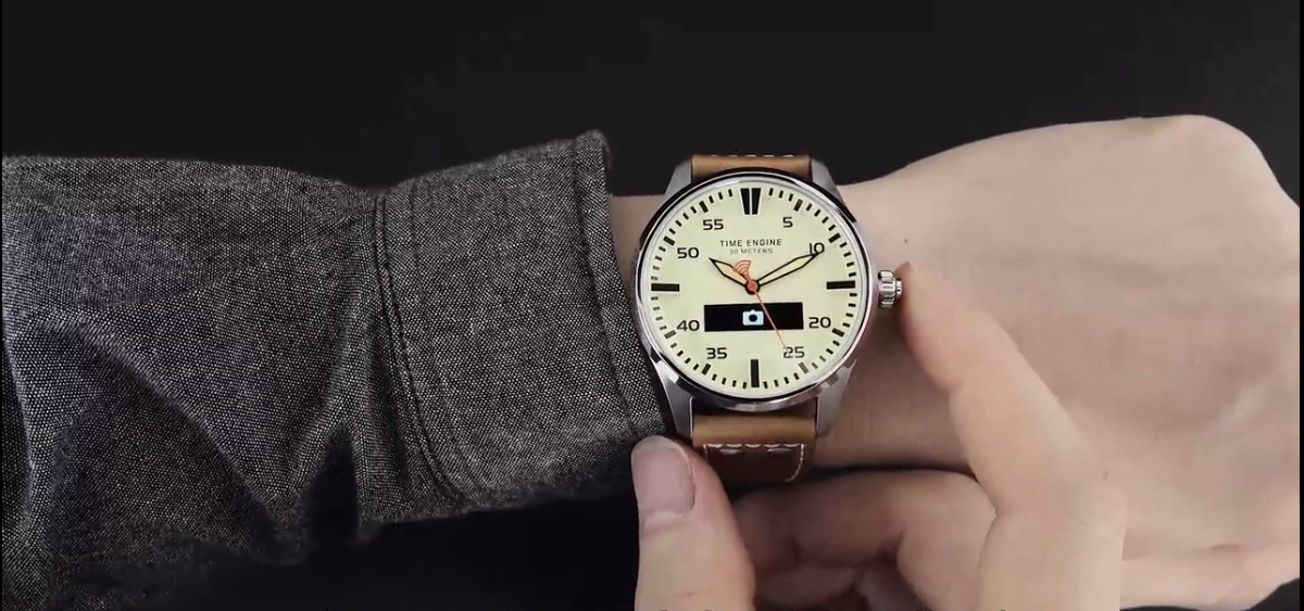 Camera remote hybrid smart watch