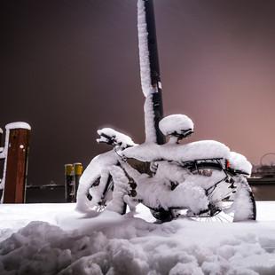 Konstanzer Hafen im Winter