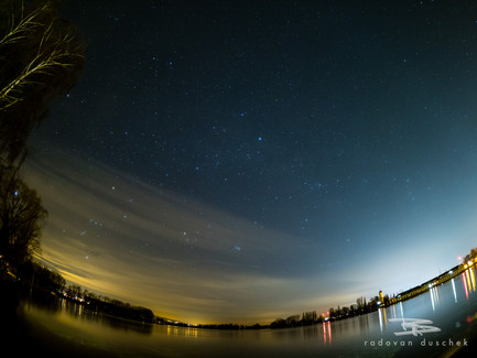 Nachthimmel am Seerhein
