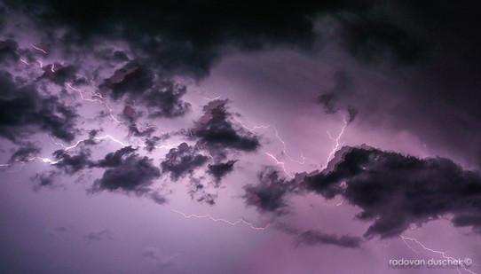 Gewitter und Blitze über Konstanz