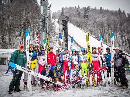 Team der Vorspringer - FIS Skiflying Worldchampionship 2018 in Oberstdorf (GER)