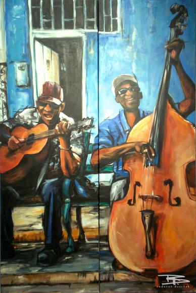 Straßenmusiker von Havanna