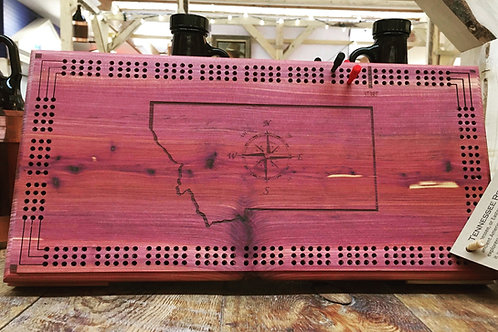 Wooden Cribbage Board - Red Cedar