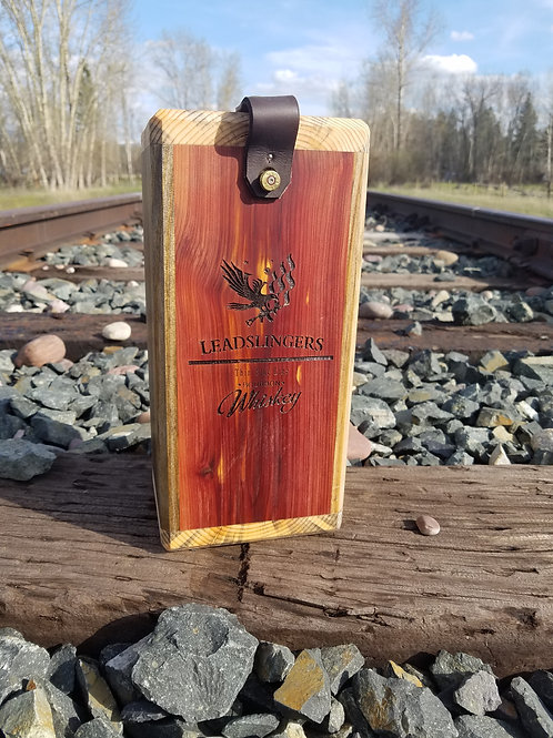 Leadslingers Thin Blue Line Whiskey Case - Blue Pine and Red Cedar