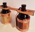 Growler Carrier, handmade with oak.