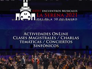 OSULS presenta los 36°Encuentros Musicales de La Serena con amplia variedad de actividades online