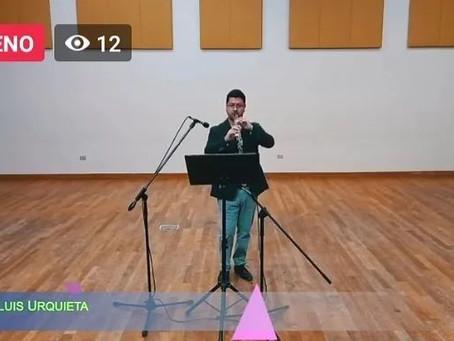 Cuatro obras y dos estrenos marcaron concierto solista del maestro Urquieta en el Musicahora 2021