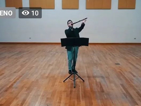 Cuatro obras y dos estrenos absolutos marcaron concierto solista de José Luis Urquieta en Musicahora