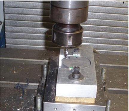 Furação em peas de alumínio
