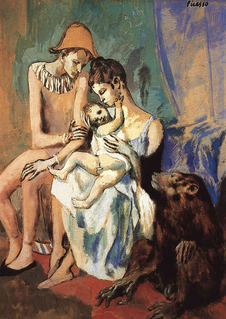 Picasso, 1905 Family of Acrobats with Monkey