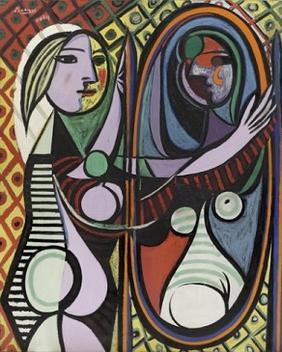 Girl Before a Mirror, Picasso, 1932