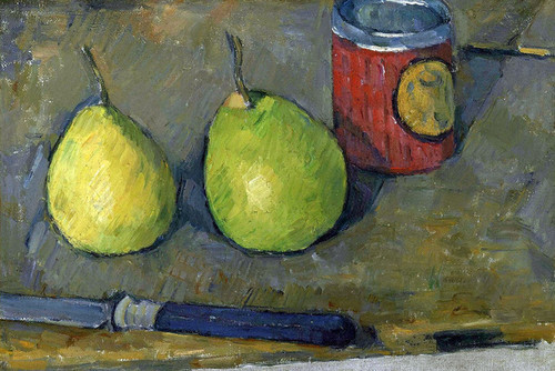 Pears and a Knife by Paul Cezanne