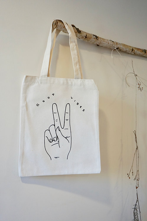 Good Vibes Small Tote Bag