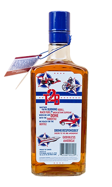 throttle 2 bottle canadian whisky bottle back