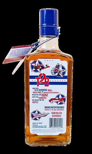 throttle 2 bottle canadian whisky bot.tle back