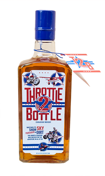 throttle 2 bottle canadian whisky bottle image