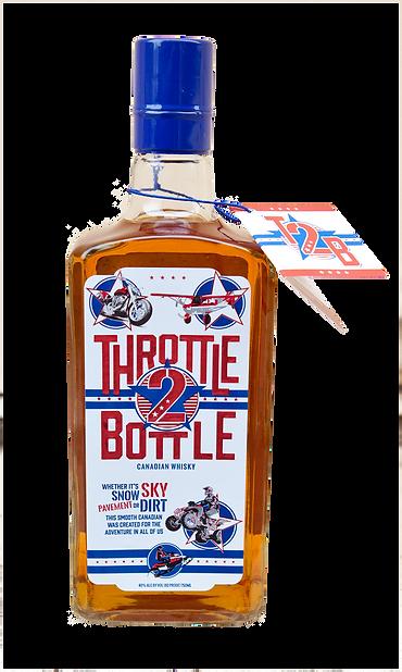 throttle 2 bottle canadian whisky bottle front