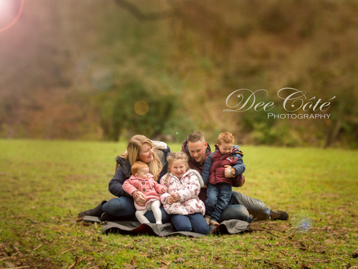 Winter Family Session, Fingle Bridge
